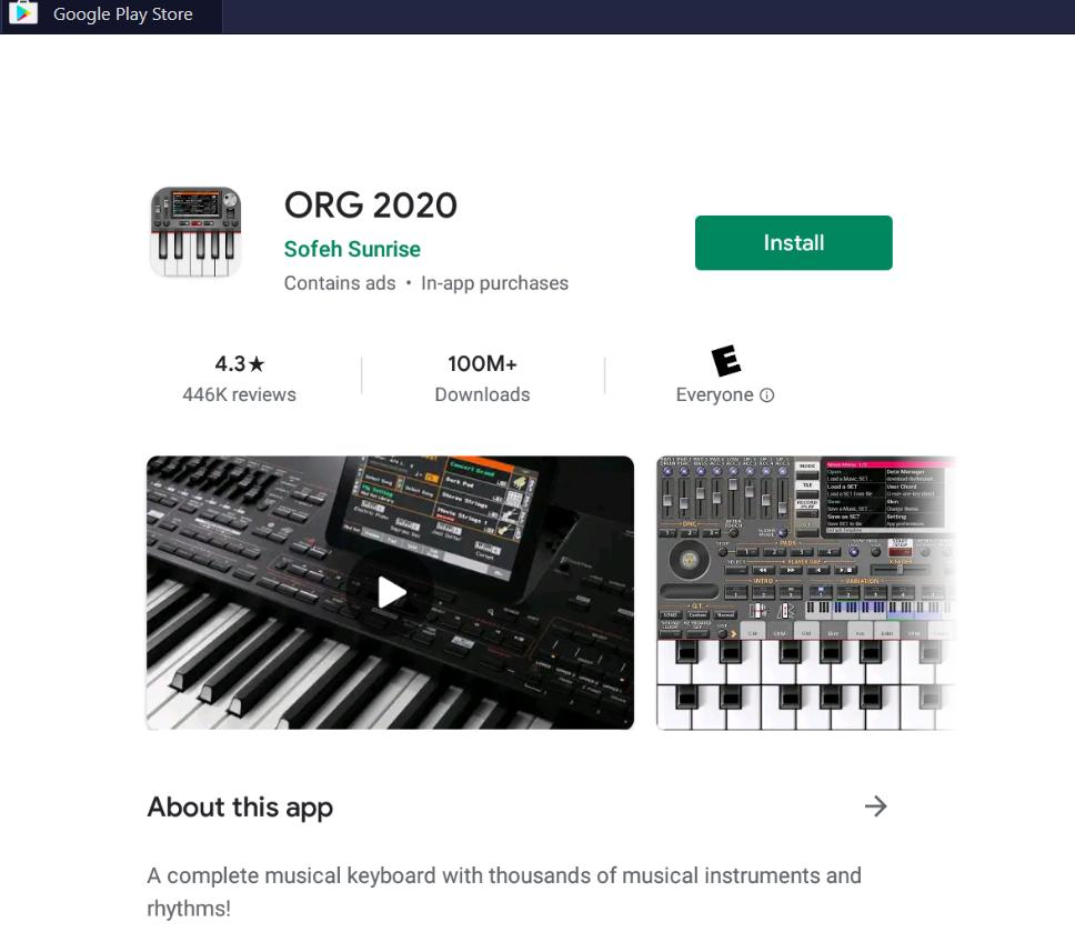 Org 2020 on PC